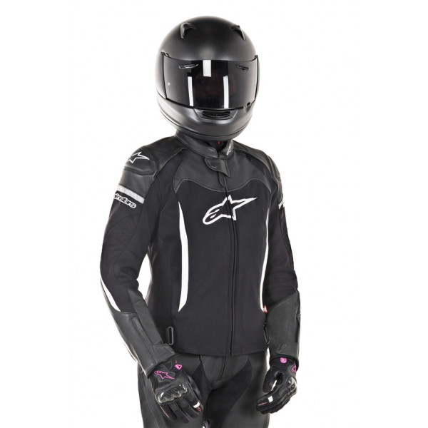 Alpinestars STELLA SP X leather lady jacket black whte