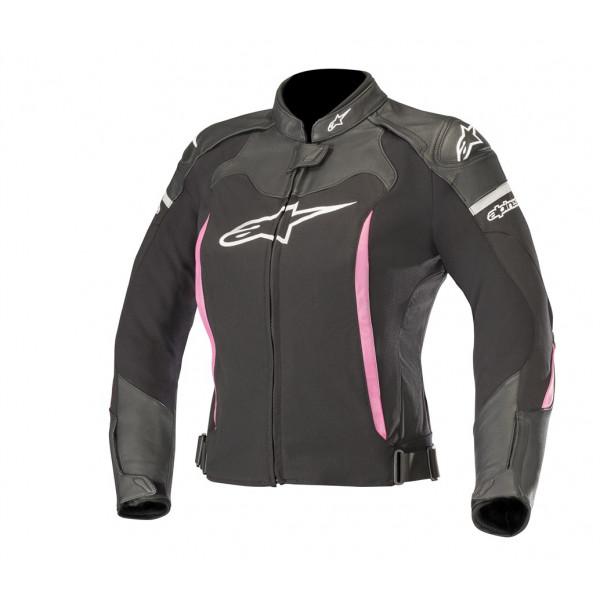 Alpinestars STELLA SP X leather lady jacket black fuchsia