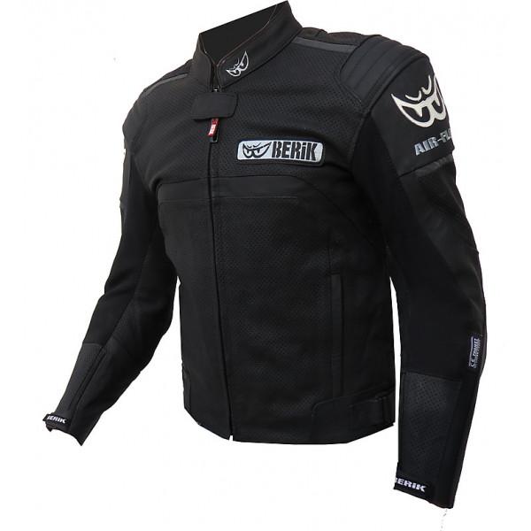 Berik Air Flow summer leather Jacket Black White