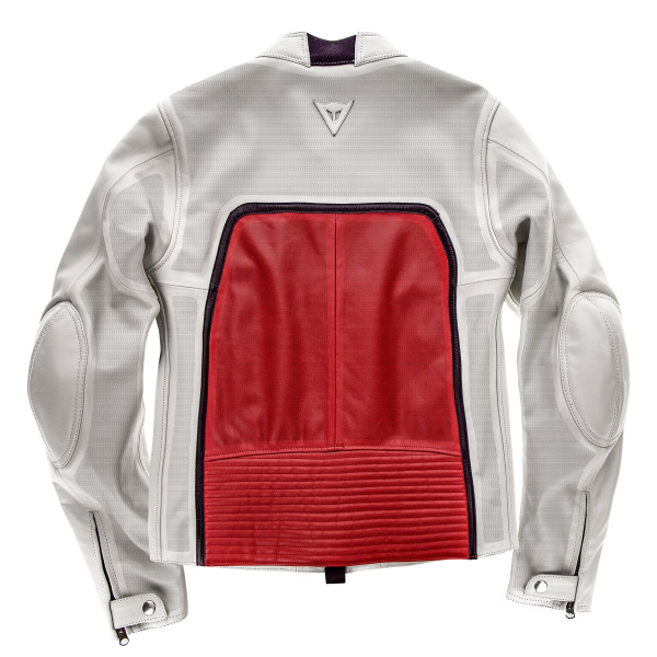 Dainese72 TOGA72 perforated leather jacket White Red