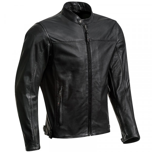 Ixon CRANK AIR summer leather jacket Black