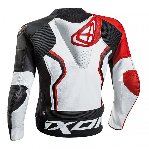 Ixon FALCON summer leather jacket White Black Red
