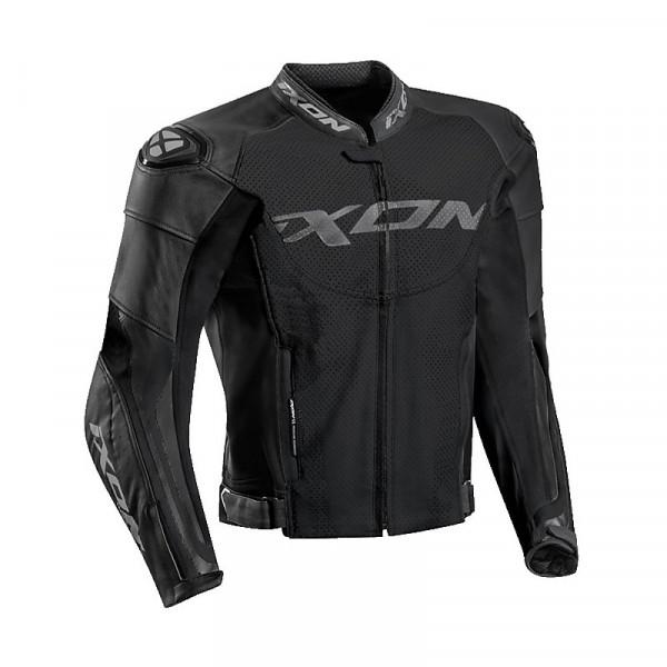 Ixon FALCON summer leather jacket Black