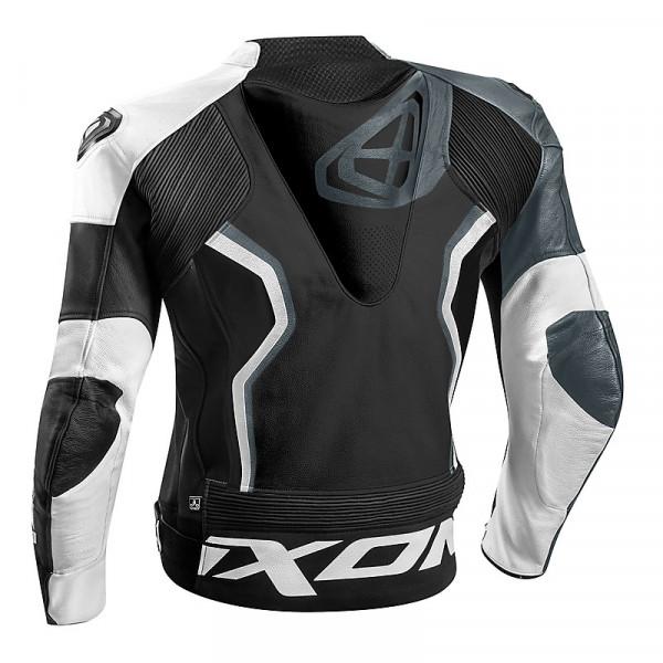 Ixon FALCON summer leather jacket Black White Grey