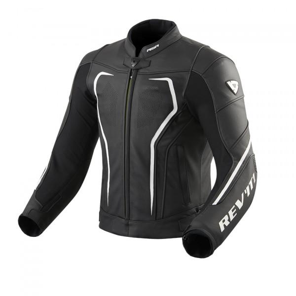 Rev'it Vertex GT leather summer Jacket Black White