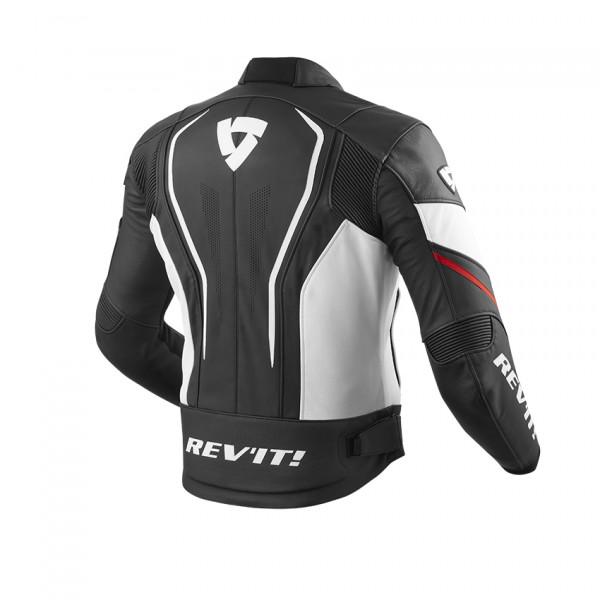 Rev'it Vertex GT leather summer Jacket Black Red
