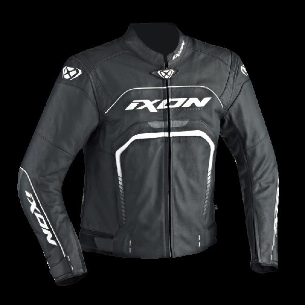 Ixon leather jacker Fighter black white