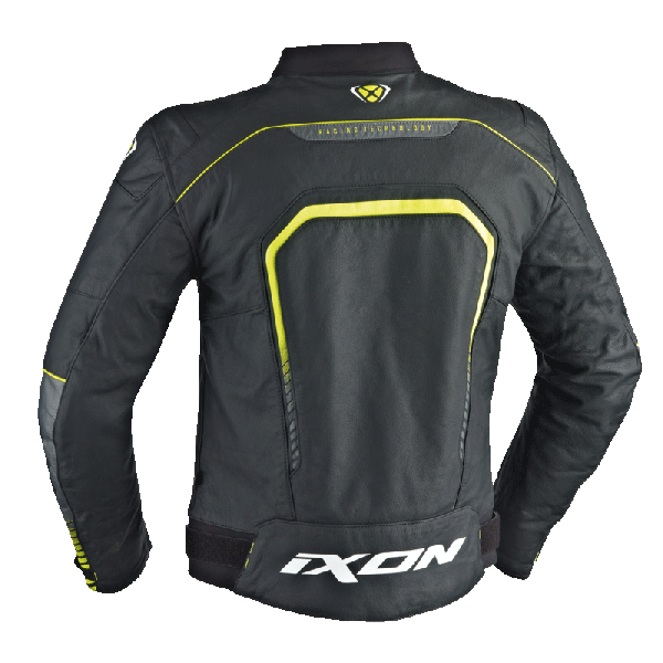 Ixon leather jacker Fighter black white yellow