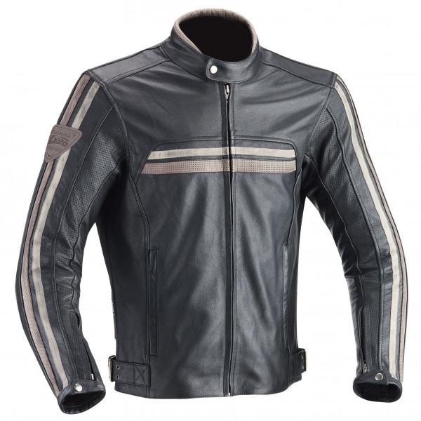 Ixon leather jacket Heroes black beige
