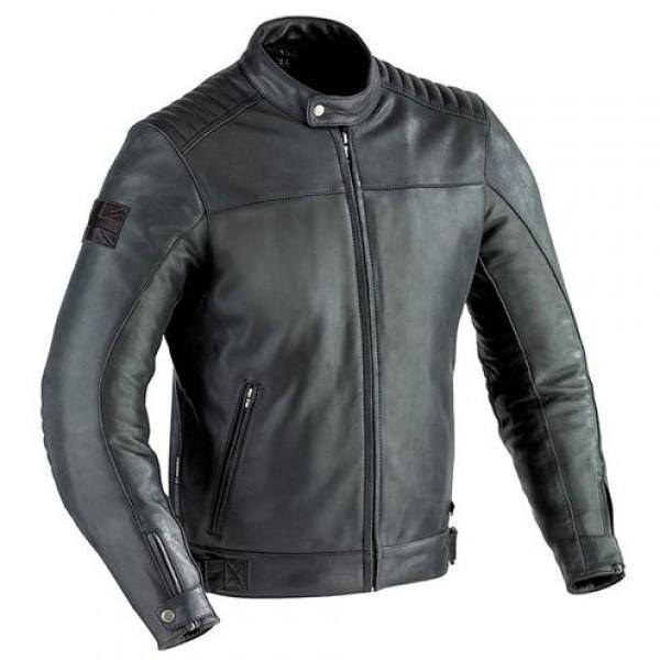 Ixon Mechanics motorcycle Leather Jacket Black