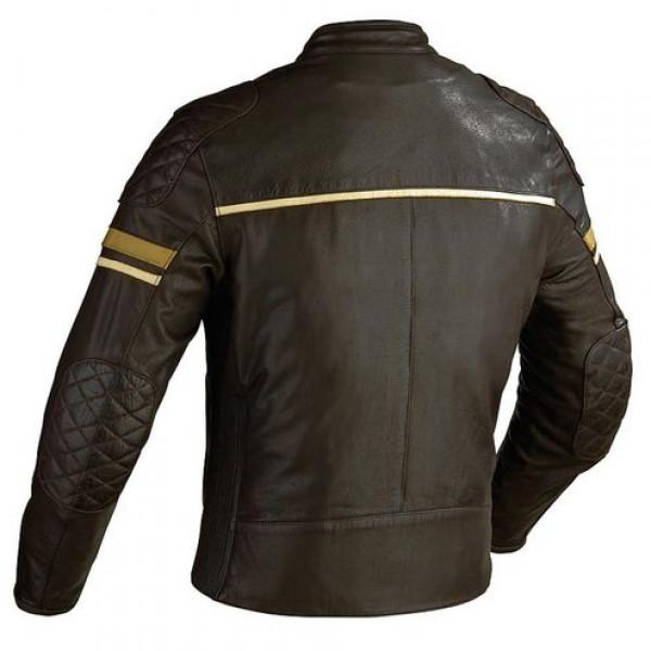 Ixon MOTORS motorcycle Leather jacket Brown Cafe