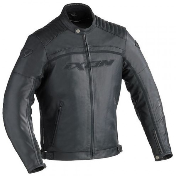 Ixon Piston motorcycle Leather Jacket Black