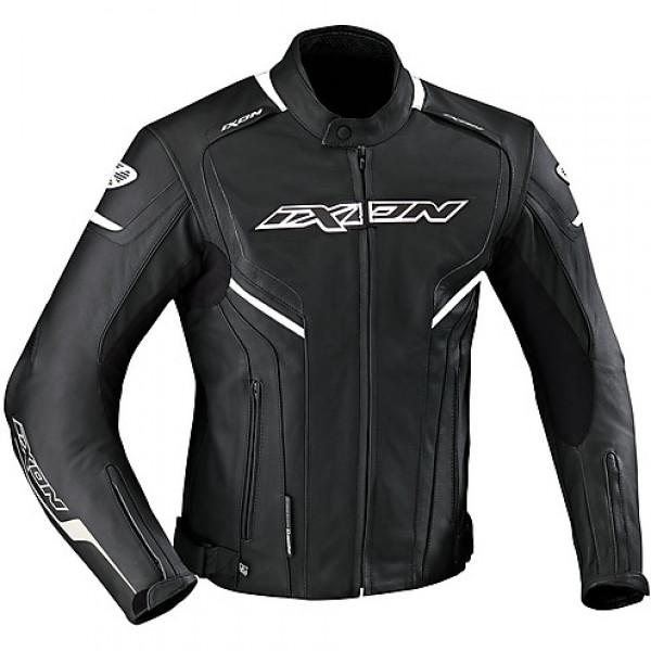 Ixon Stunter leather jacket Black White