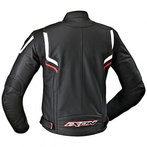 Ixon Stunter leather jacket Black White Red
