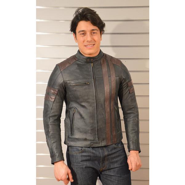 Jollisport leather jacket Roger black