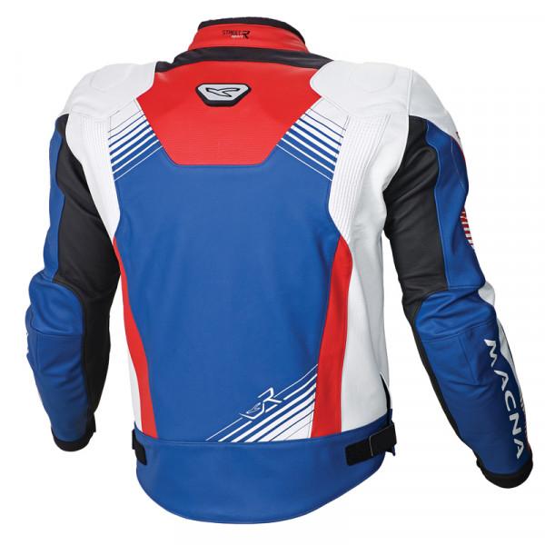 Macna leather jacket Giga blue white red