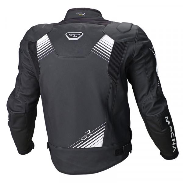 Macna leather jacket Giga black white