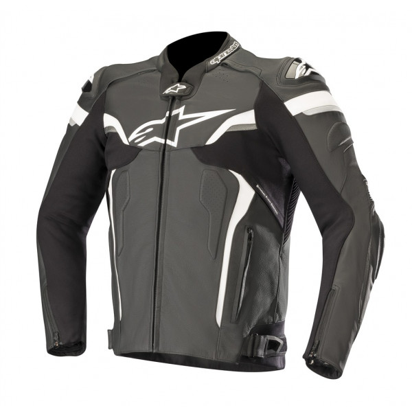 Alpinestars CELER V2 leather motorcycle jacket black whte