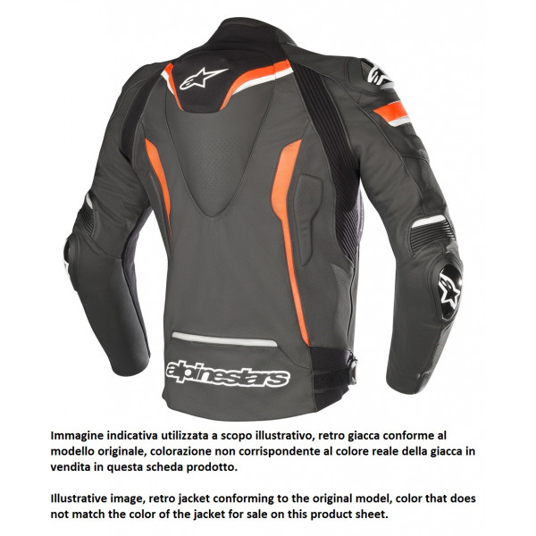Alpinestars CELER V2 leather motorcycle jacket black whte