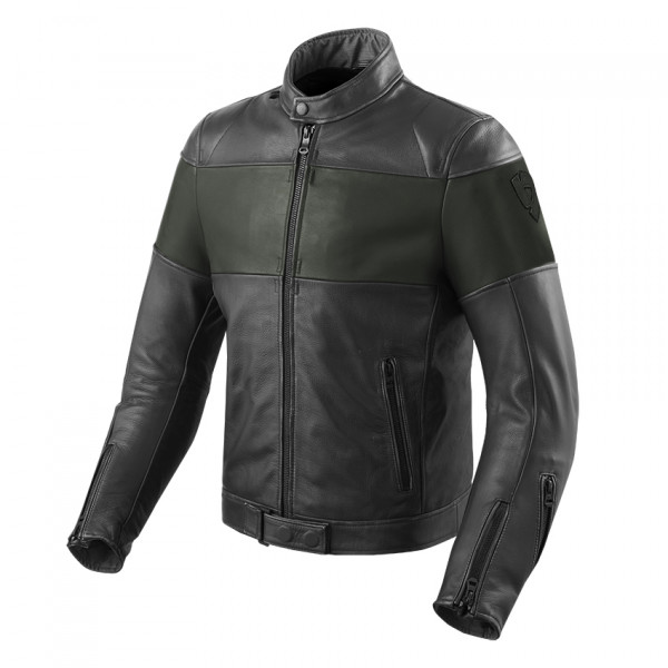 Rev'it Nova Vintage leather jacket Black Green