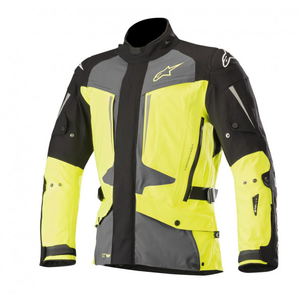 Alpinestars YAGUARA DS Tech-Air compatible jacket black dark gray yellow fluo