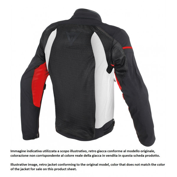 Dainese AIR FRAME D1 summer jacket black black red fluo