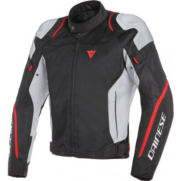Dainese AIR MASTER summer jacket black glacier grey fluo red