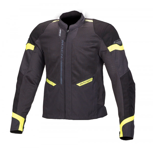 Macna touring summer jacket Event grey black fluo yellow