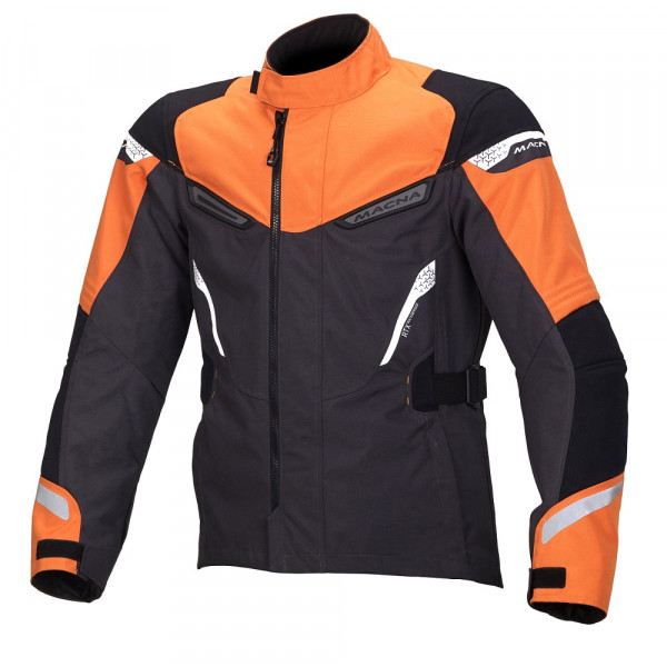 Macna touring jacket Myth WP dark grey orange black