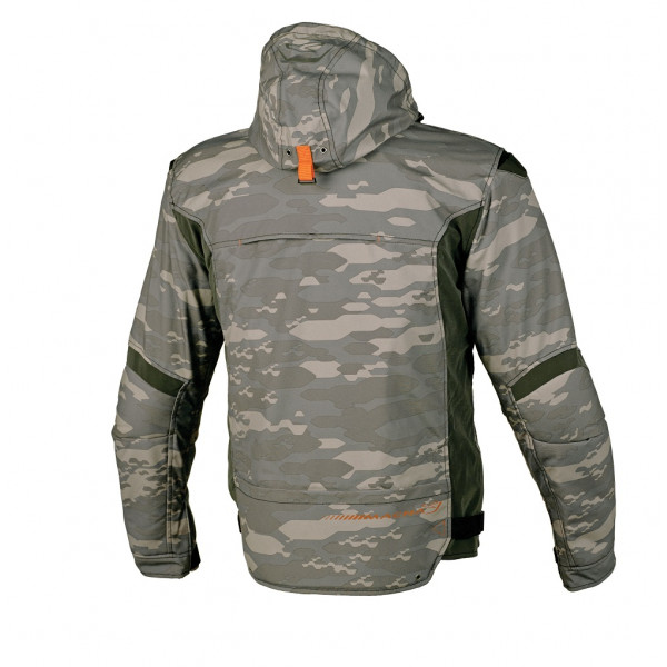 Macna touring jacket Redox WP 3 layers camo grey Night Eye dark