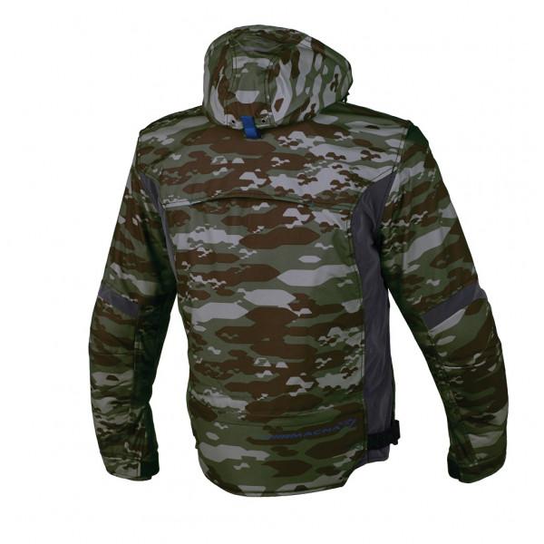 Macna touring jacket Redox WP 3 layers camo green Night Eye dark