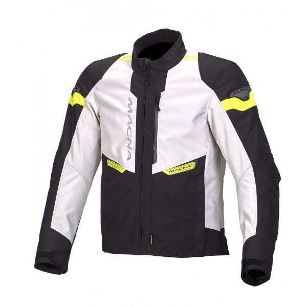 Macna touring Jacket Traction WP black light grey fluo yellow