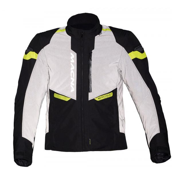 Macna touring Jacket Traction WP black night eye fluo yellow