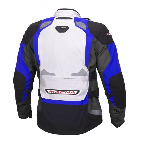 Macna touring jacket Vosges 3 layers light grey black gunmetal blue