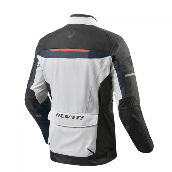 Rev'it Safari 3 touring jacket Black Silver Blue