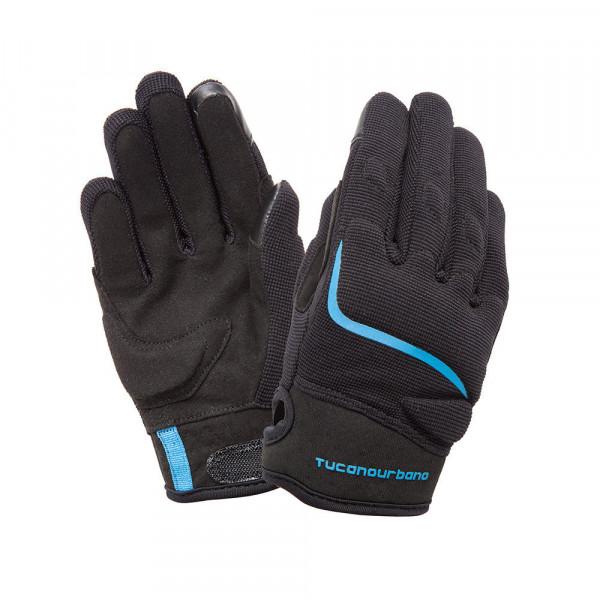 Tucano Urbano Miky Kid motorcycle gloves black