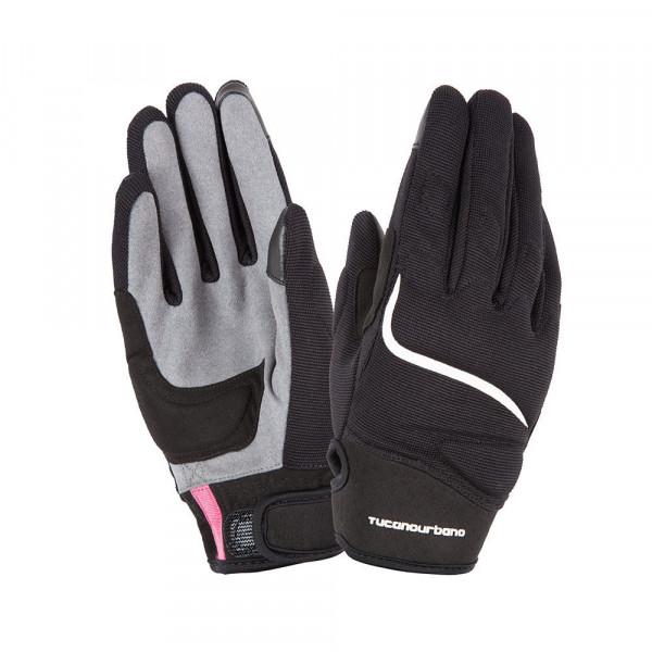 Tucano Urbano Miky Lady motorcycle gloves black white