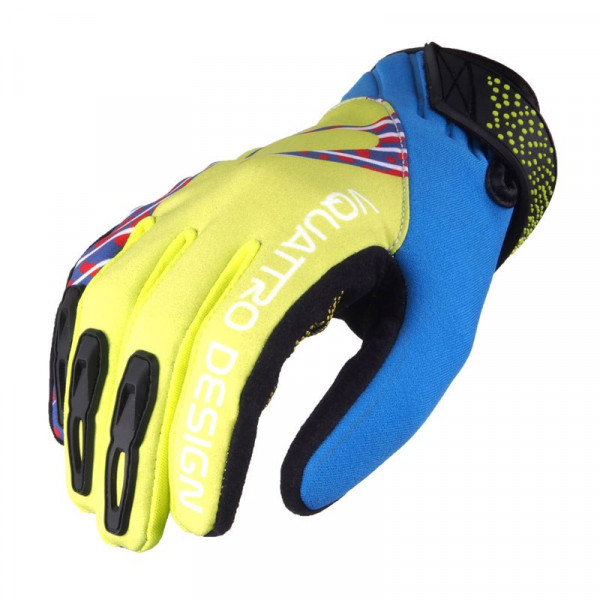 VQuattro DIRT LADY summer motorcycle gloves yellow