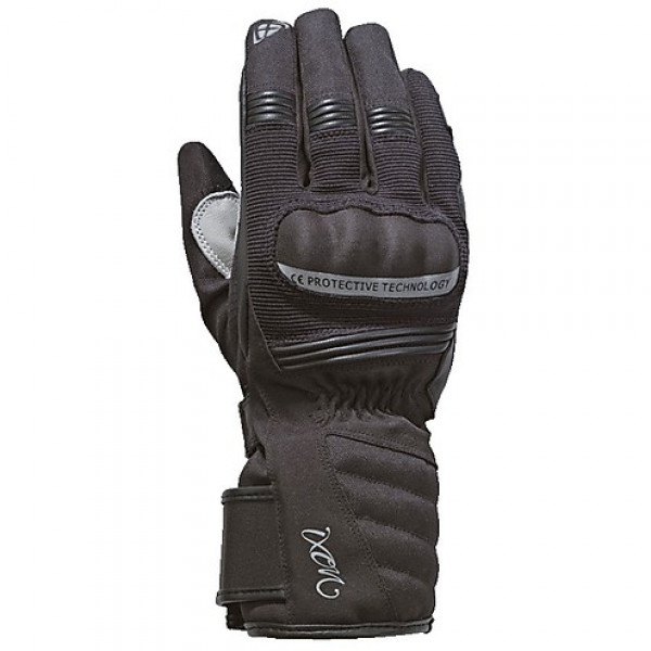 Ixon PRO TENERE LADY winter woman gloves black silver