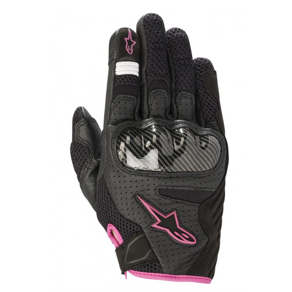 Alpinestars STELLA SMX-1 AIR V2 lady leather summer gloves black fuchsia