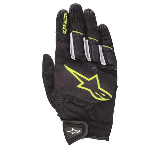 Alpinestars ATOM summer gloves black yellow fluo