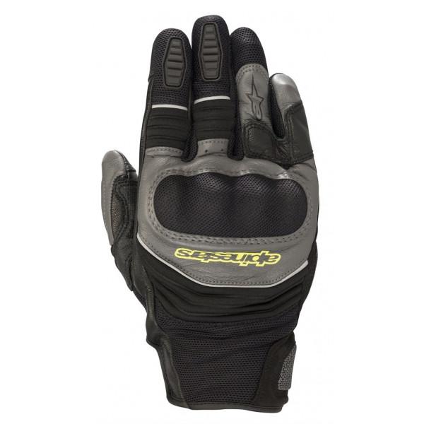 Alpinestars CROSSER AIR TOUR summer gloves black anthracite yellow fluo