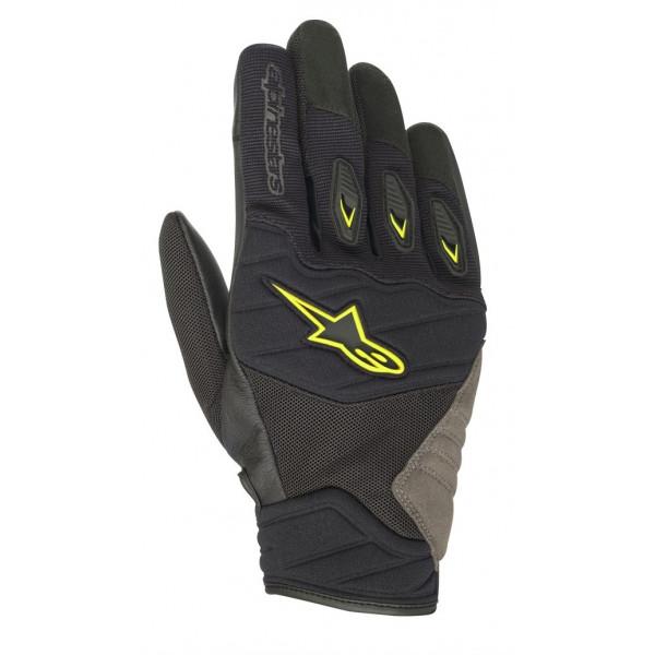Alpinestars SHORE summer gloves black yellow fluo