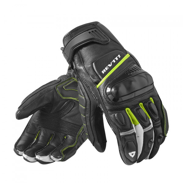Rev'it Chicane leather summer gloves Black Yellow Neon