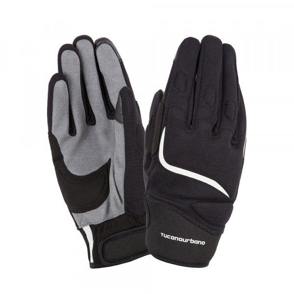 Tucano Urbano Miky motorcycle gloves black white