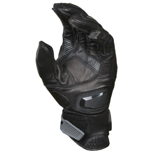 Macna leather summer gloves Ozone black