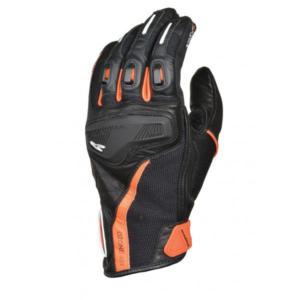 Macna leather summer gloves Ozone black orange