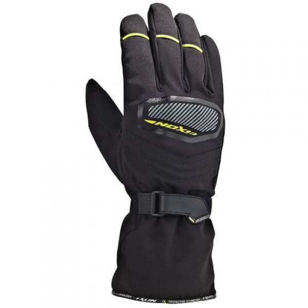 Ixon Pro Spy HP Winter motorcycle Leather Gloves Black Yellow