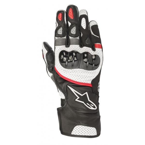 Alpinestars SP-2 V2 leather gloves black white red