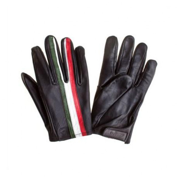Dugway leather gloves Flag Italy black